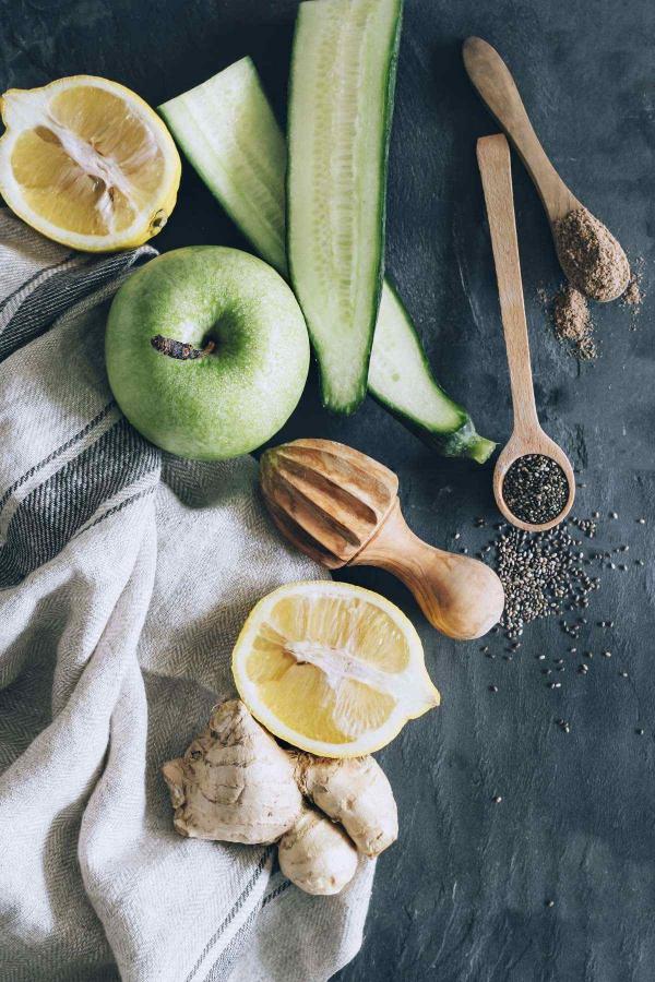 graines de chia du gingembre