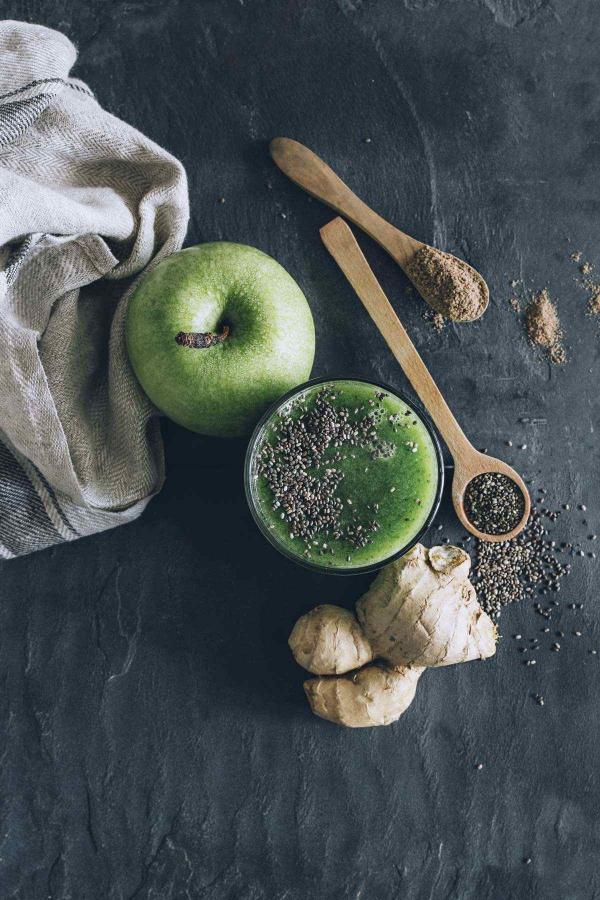 graines de chia pomme verte