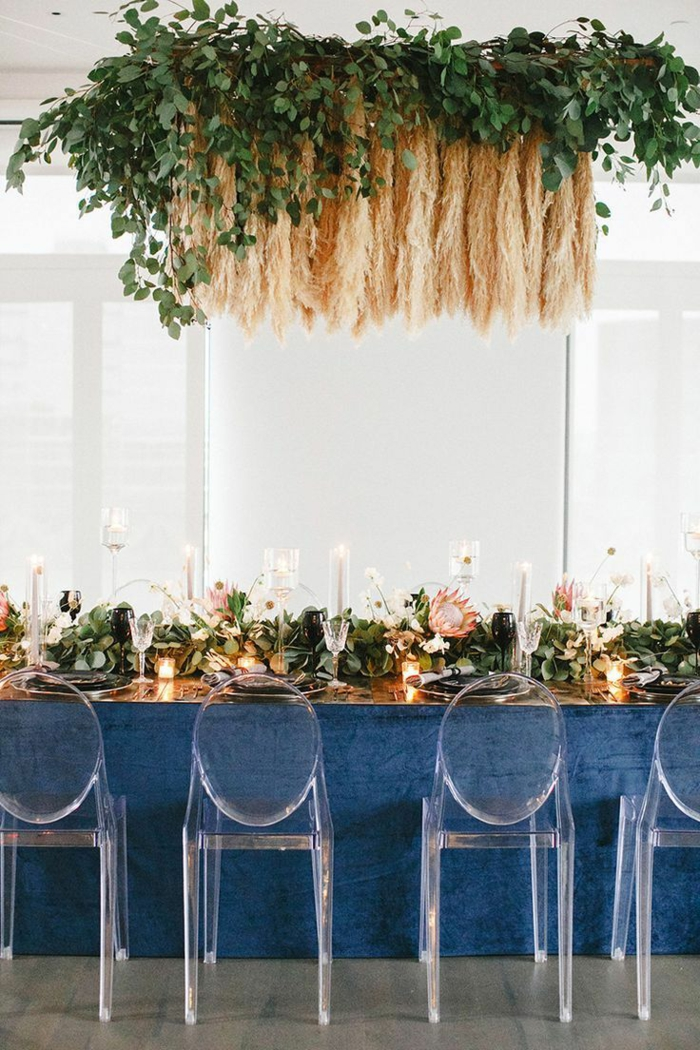 herbe de la pampa décoration suspendue