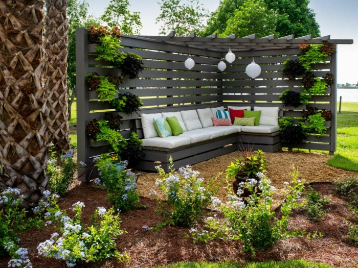 idée coin détente jardin
