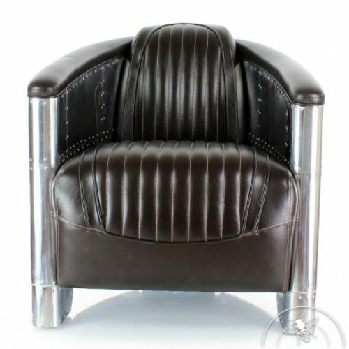 idée déco fauteuil club aviateur cuir brun saintex