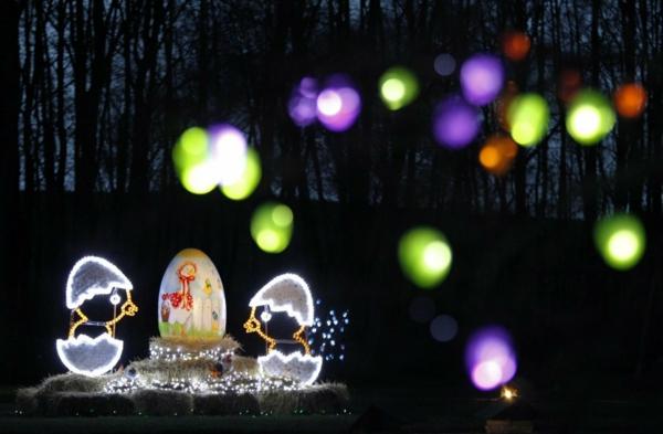 idée décoration de pâques à faire soi-même éclairage créatif