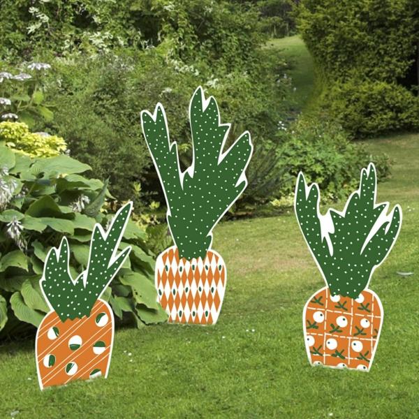 idée décoration de pâques à faire soi-même carottes en carton