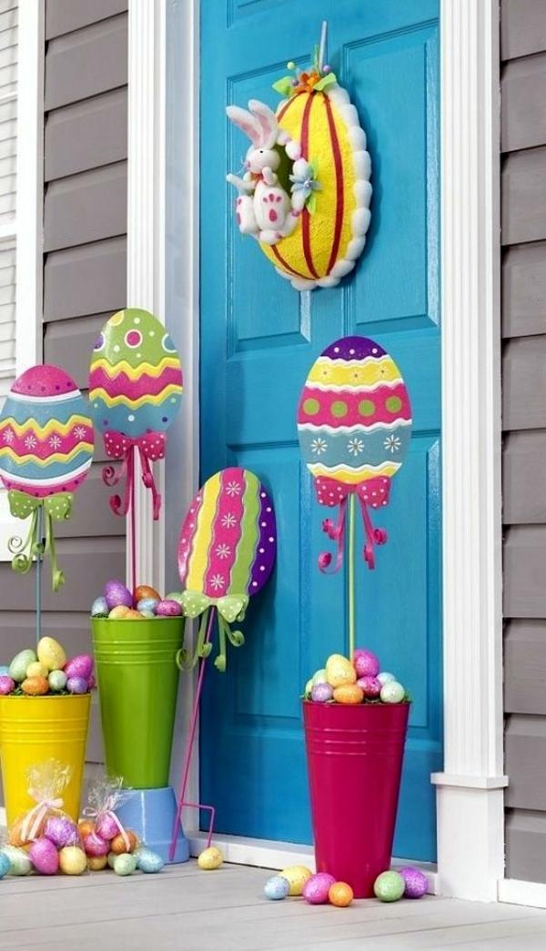 idée décoration de pâques à faire soi-même déco avec oeufs