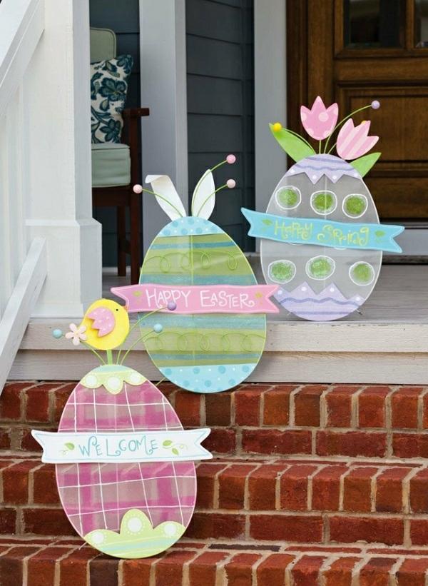 idée décoration de pâques à faire soi-même déco escalier