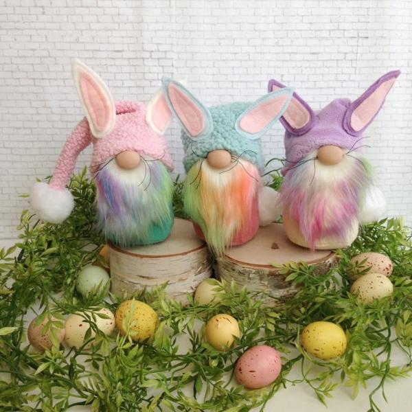 idée décoration de pâques à faire soi-même gnomes lapins