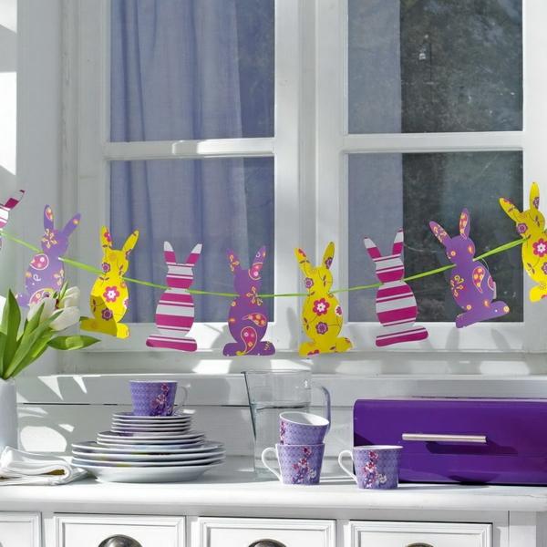 idée décoration de pâques à faire soi-même guirlande