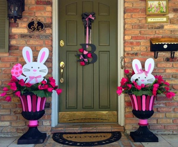 idée décoration de pâques à faire soi-même jardinières créatives