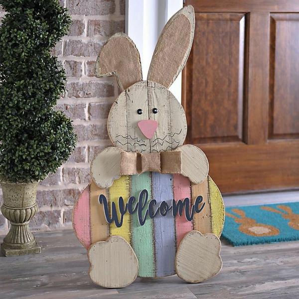 idée décoration de pâques à faire soi-même lapin diy