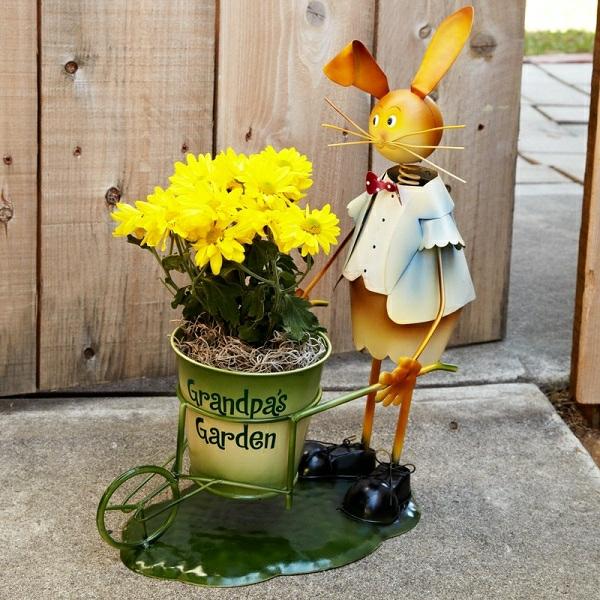 idée décoration de pâques à faire soi-même lapin recyclage