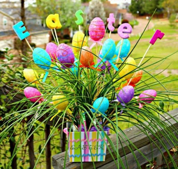 idée décoration de pâques à faire soi-même oeufs de pâques