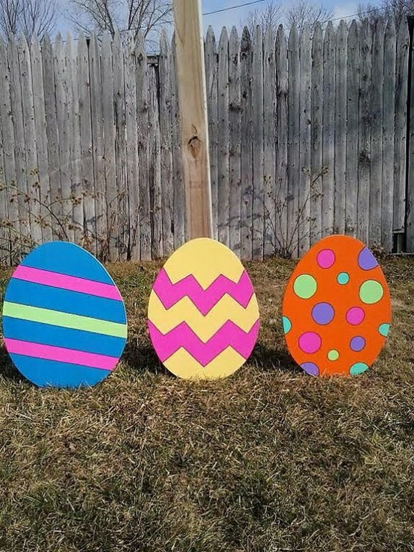 idée décoration de pâques à faire soi-même oeufs géants