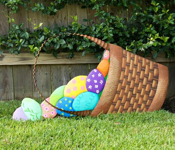 idée décoration de pâques à faire soi-même panier de pâques