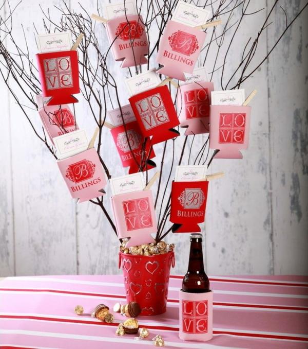 idée de déco saint-valentin à faire soi-même arbre décoratif