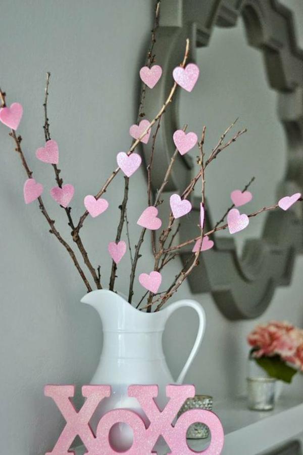 idée de déco saint-valentin à faire soi-même arbre d'amour
