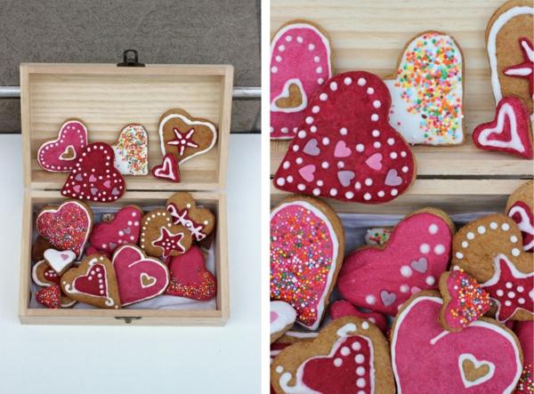 idée de déco saint-valentin à faire soi-même biscuits décorés
