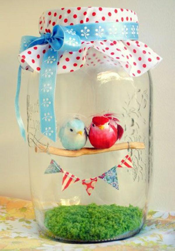 idée de déco saint-valentin à faire soi-même bocal mason jar paysage