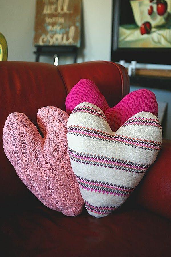 idée de déco saint-valentin à faire soi-même coussins patchwork