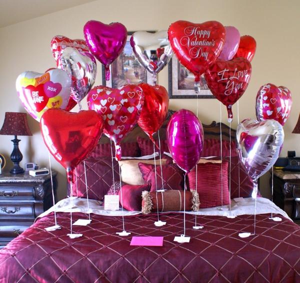idée de déco saint-valentin à faire soi-même déco chambre ballons