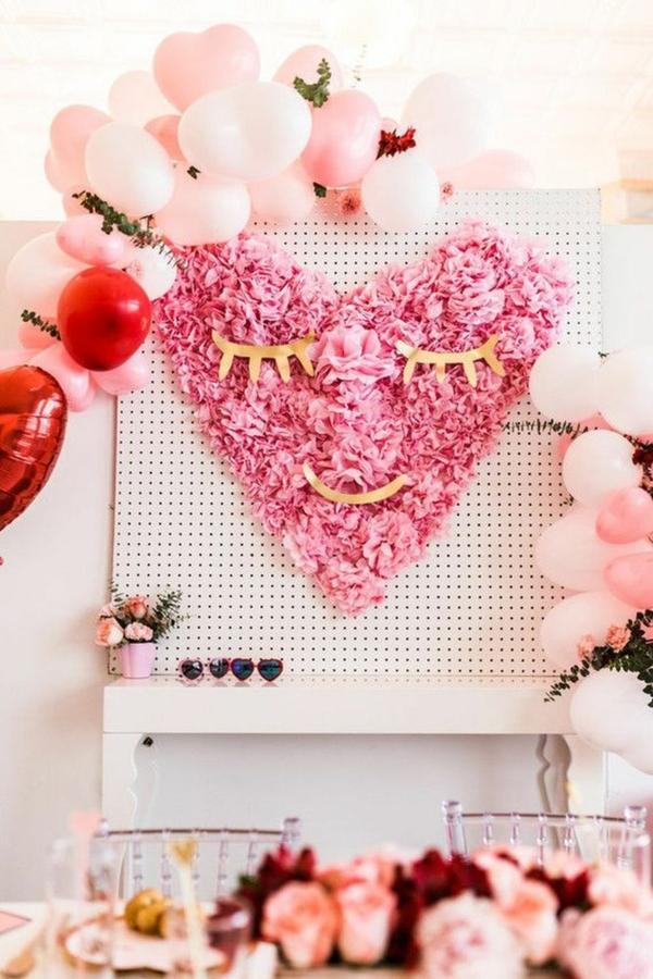 idée de déco saint-valentin à faire soi-même déco murale rose