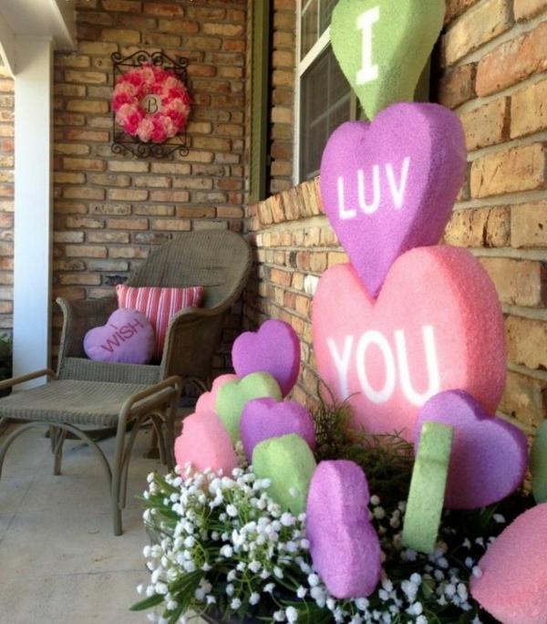 idée de déco saint-valentin à faire soi-même déco patio