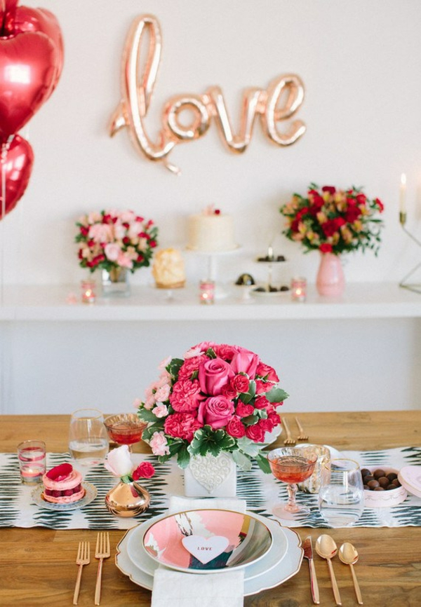 idée de déco saint-valentin à faire soi-même décoration de table