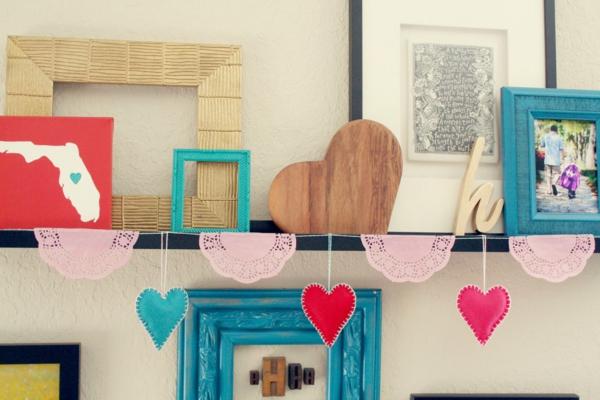 idée de déco saint-valentin à faire soi-même en bois et textile