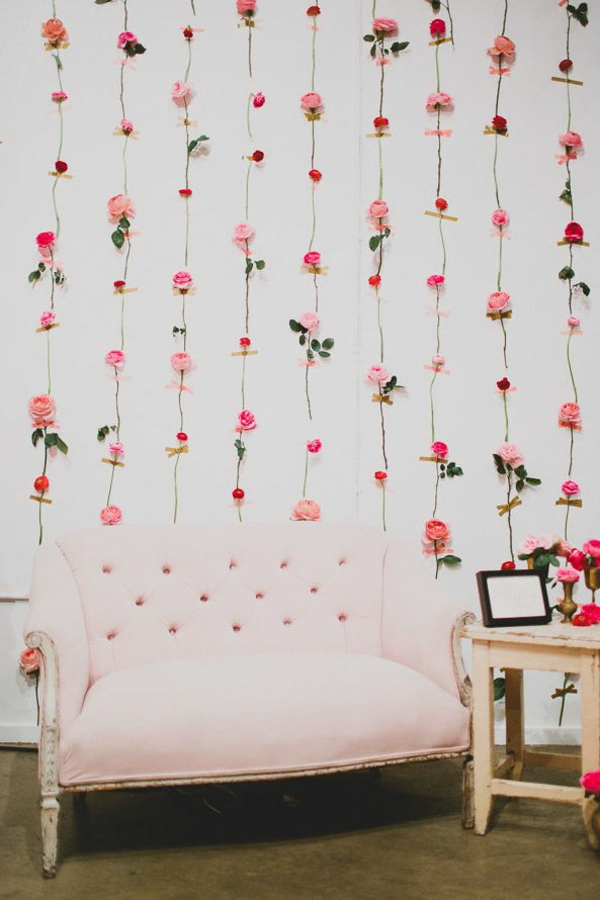 idée de déco saint-valentin à faire soi-même guirlande en roses
