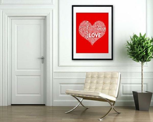 idée de déco saint-valentin à faire soi-même tableau art
