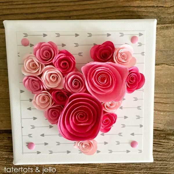 idée de déco saint-valentin à faire soi-même textile et bois