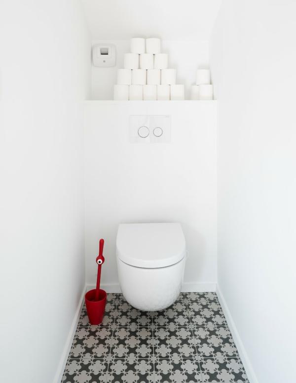 idée de peinture toilettes tendance blanc