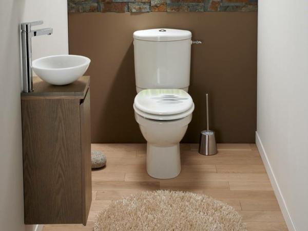 idée de peinture toilettes tendance couleur marron