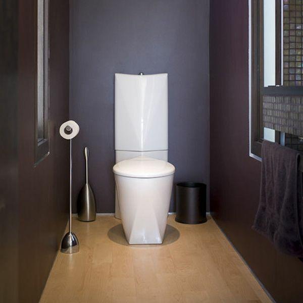 idée de peinture toilettes tendance couleur prune