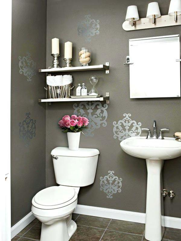idée de peinture toilettes tendance couleur taupe