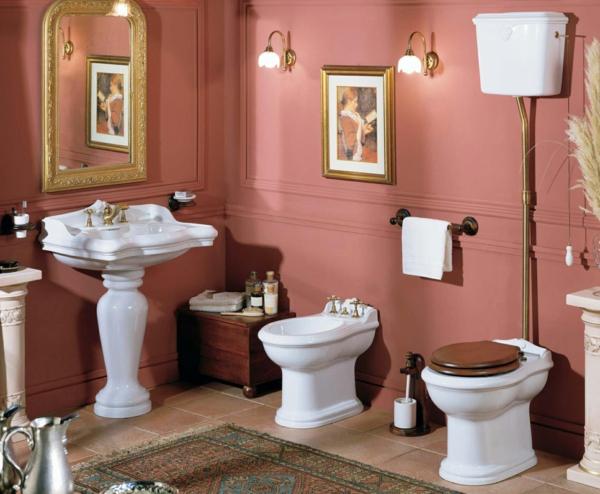idée de peinture toilettes tendance couleur vieux rose
