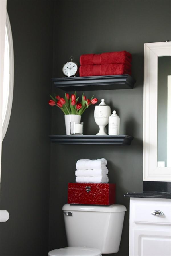 idée de peinture toilettes tendance gris anthracite