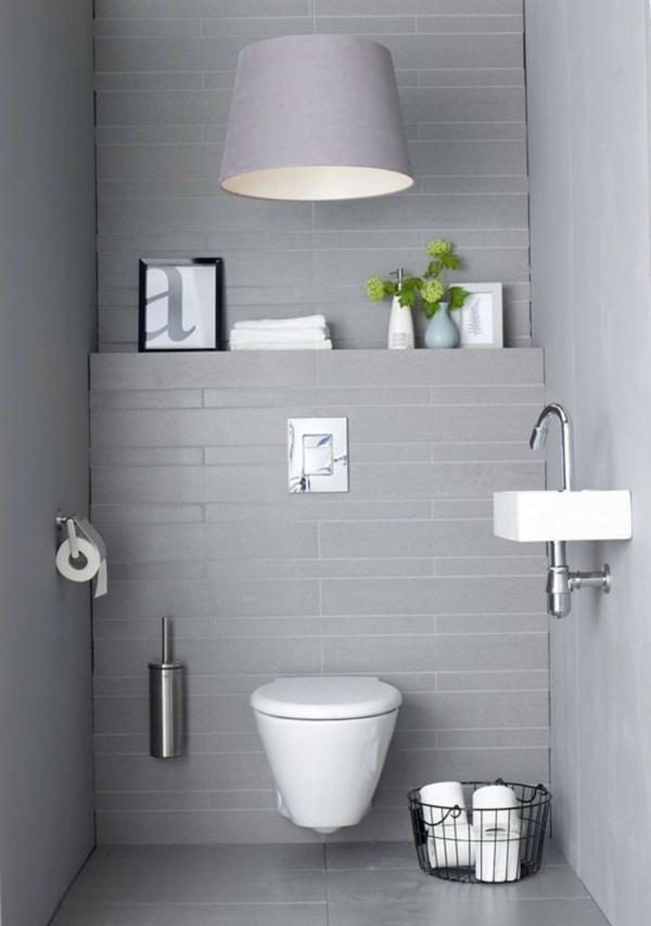 idée de peinture toilettes tendance gris pâle