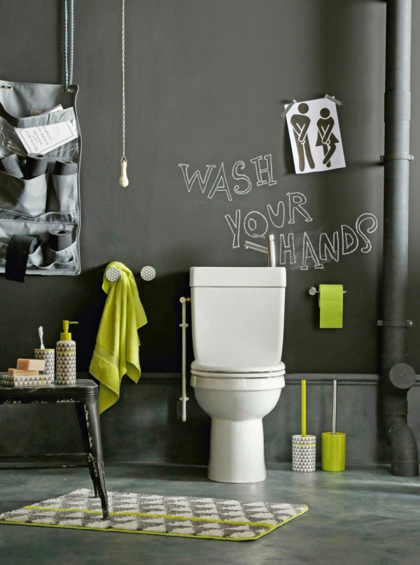 idée de peinture toilettes tendance peinture ardoise
