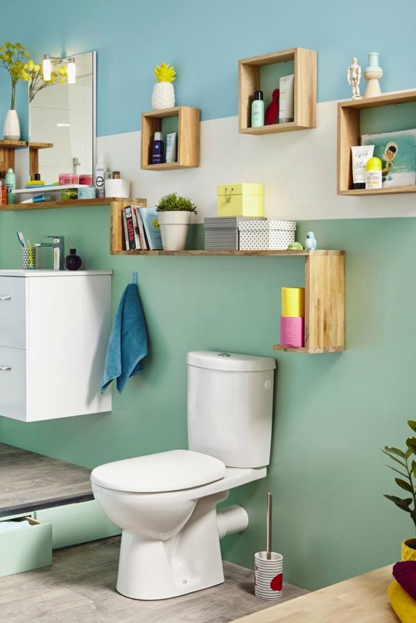 idée de peinture toilettes tendance vert menthe