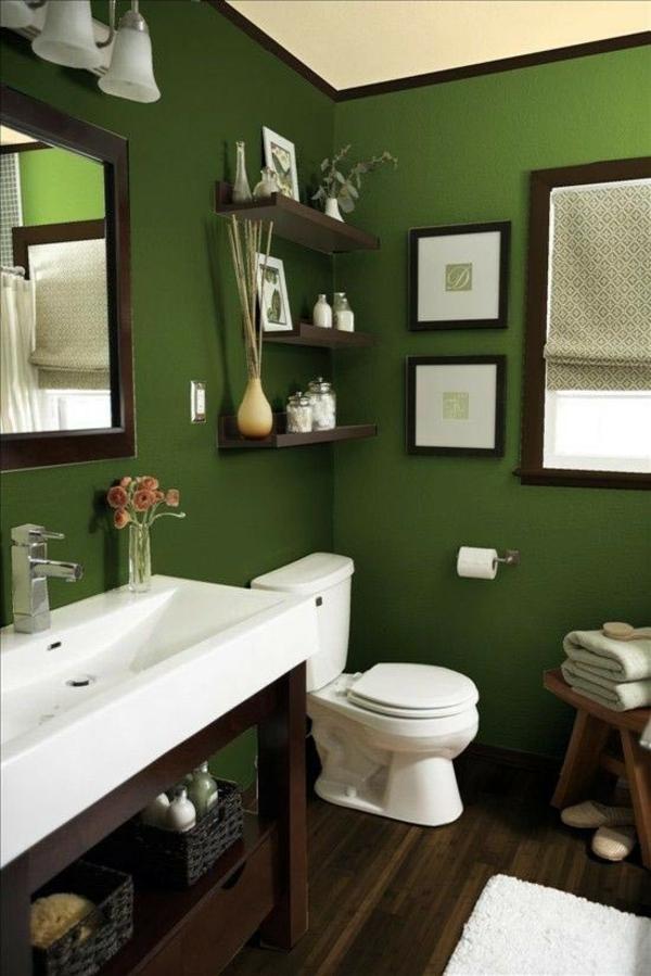 idée de peinture toilettes tendance vert nacré