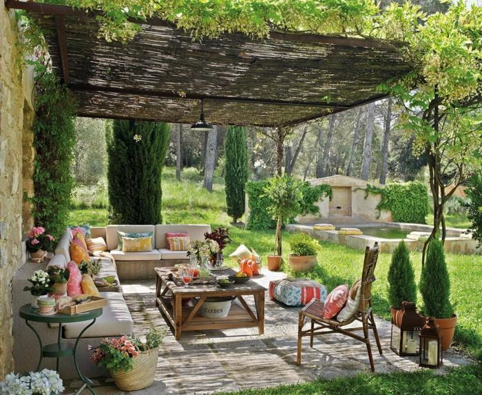 idée diy coin détente jardin