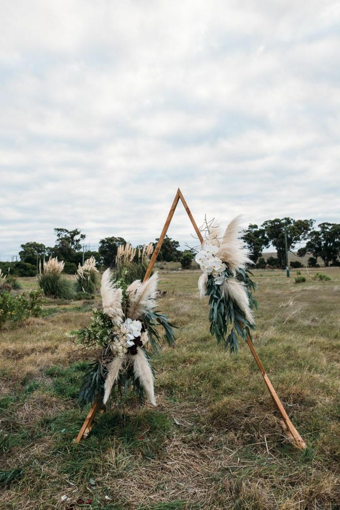 idée inspirante déco mariage avec herbe de la pampa