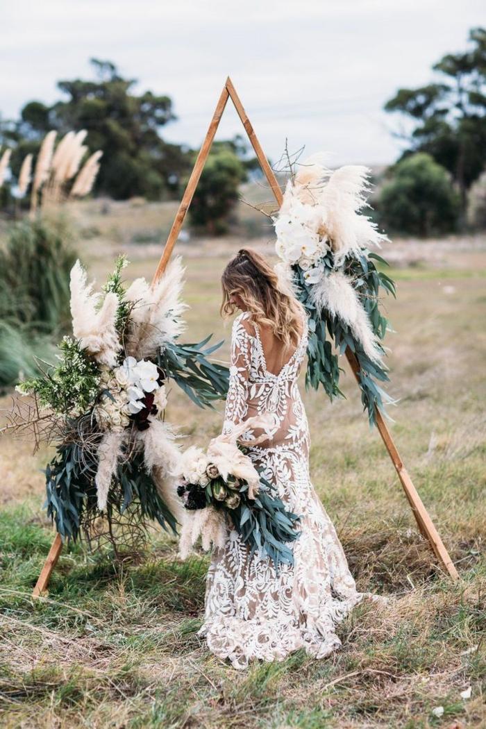 idée inspirante pour votre mariage déco avec herbe de la pampa