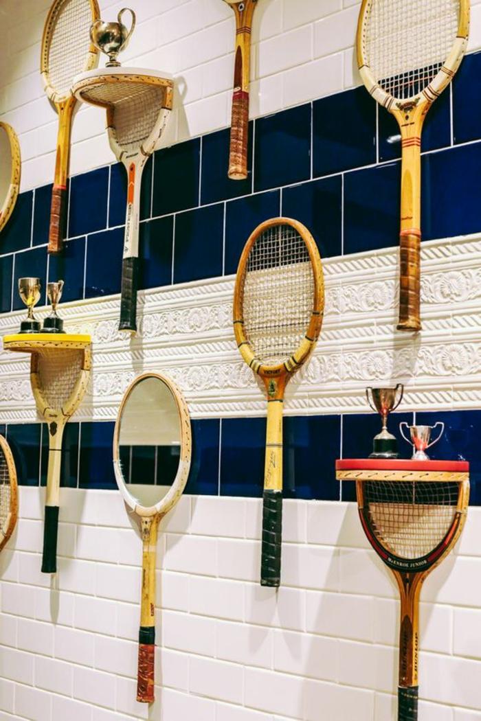 idées recyclage de raquette de tennis