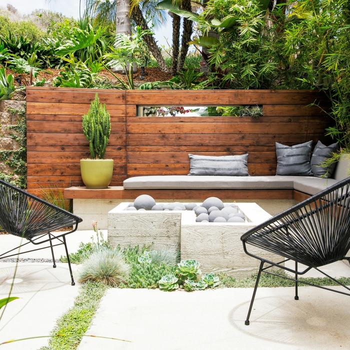 inspiration coin détente jardin chaise acapulco