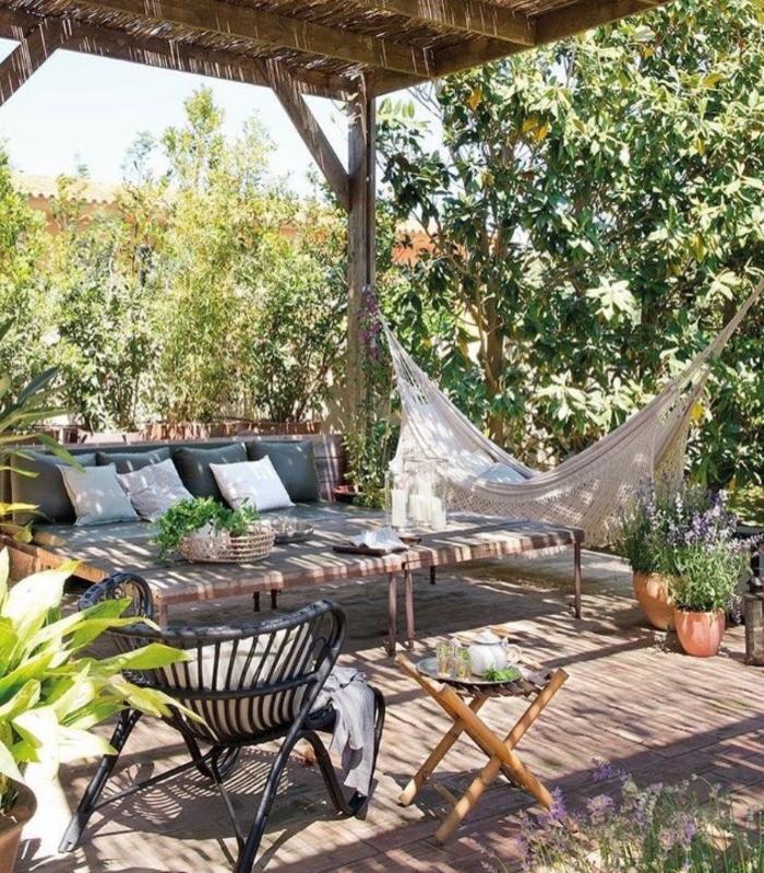 inspiration coin détente jardin hamac