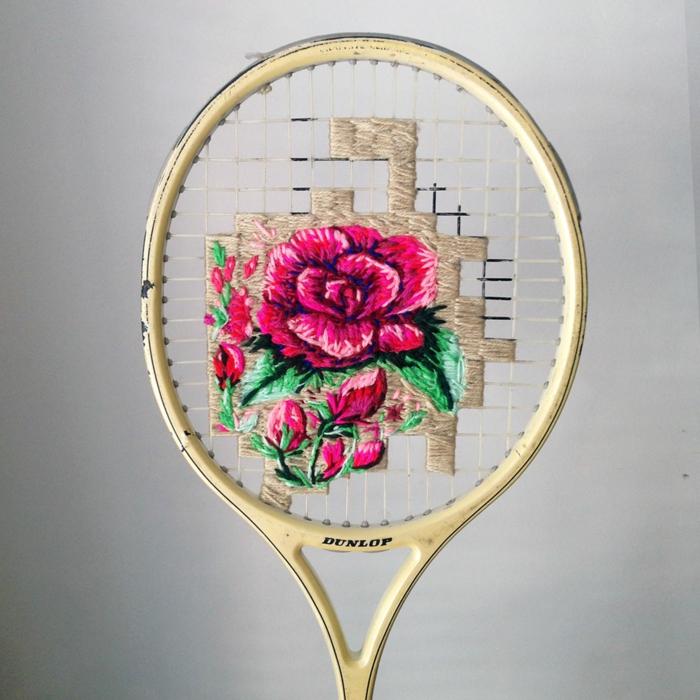 inspiration déco raquette de tennis tissage
