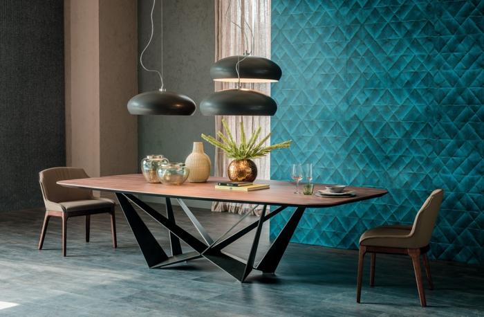 intérieur moderne avec une table salle à manger design
