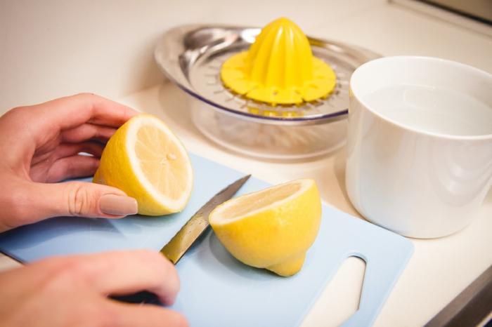 jus de citron pour blanchir le linge