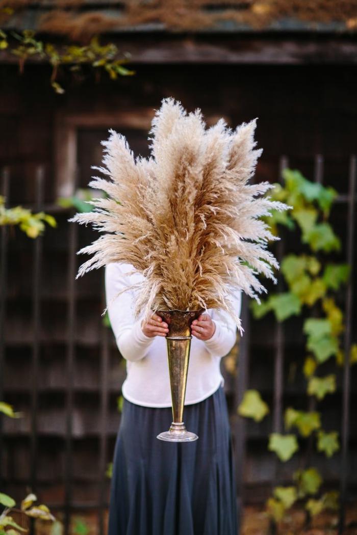 mariage style bohème déco avec herbe de la pampa